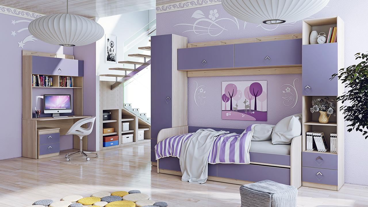 4ecfd256fc2b4 Мебель для детской :: Детские спальни :: Набор мебели для детской ...